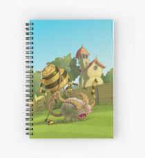 Garden monsters Spiral Notebook