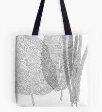 Leaves in black and white Tote Bag
