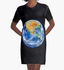 Planet Earth Graphic T-Shirt Dress