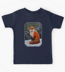 Red Fox in Snow Kids Tee