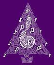 Purple Musical Tree by Rose Gerard