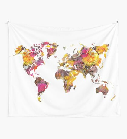 World Map 2045 Wall Tapestry