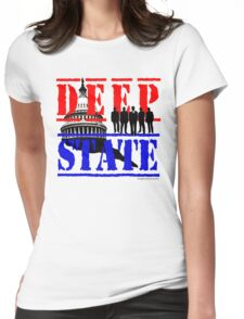 Deep State Womens Fitted T-Shirt