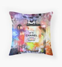 Bottle of Perfume Painted Throw Pillow