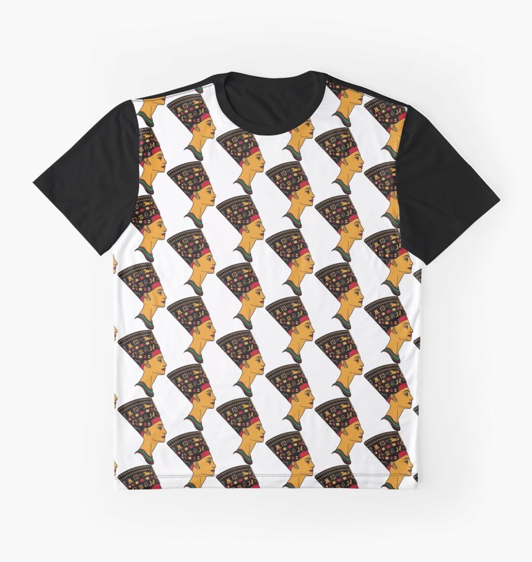 Design shirt redbubble - Queen Nefertiti Design Graphic T Shirts