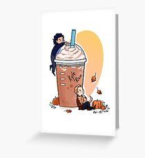 Pumpkin Spice Latte Greeting Card
