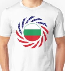 Bulgarian American Multinational Patriot Flag Series Unisex T-Shirt