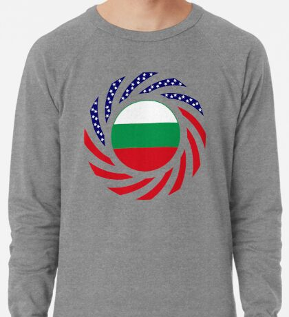 Bulgarian American Multinational Patriot Flag Series Lightweight Sweatshirt