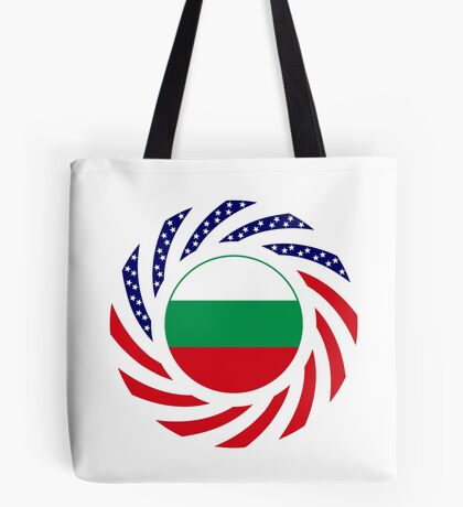 Bulgarian American Multinational Patriot Flag Series Tote Bag