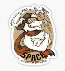 visit SPACE Sticker