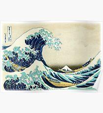 Die große Welle vor Kanagawa Poster