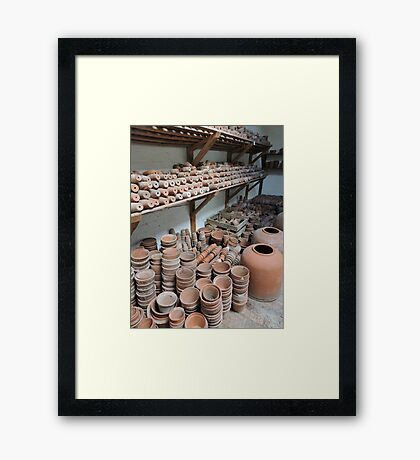 Potters Shed Framed Print
