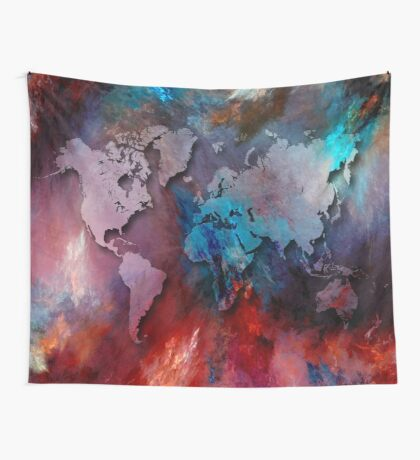 World map special 2 Wall Tapestry