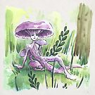Empire of Mushrooms: Laccaria Amethystina by Barbora  Urbankova