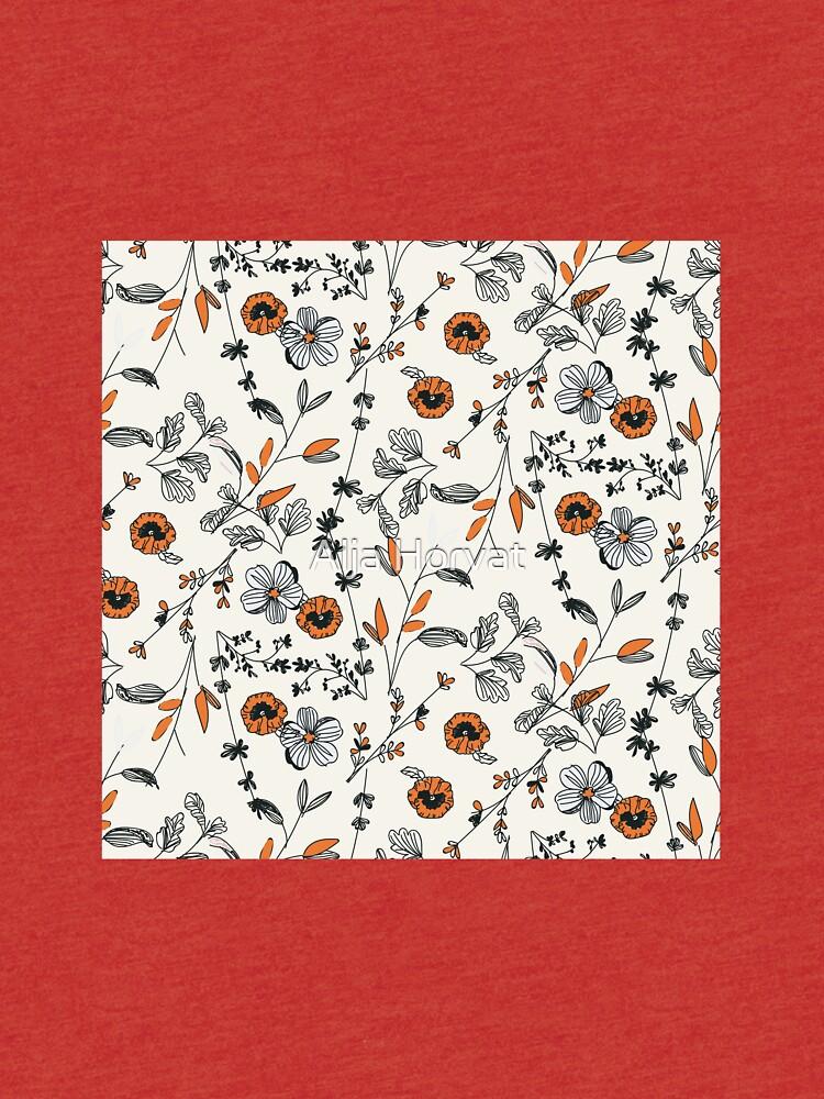 Orange Blumenmuster von chotnelle