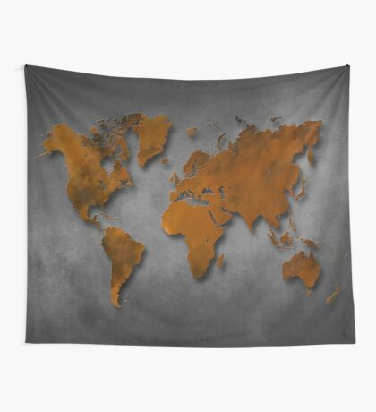 World map special 6 Wall Tapestry