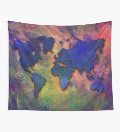 World map special 5 Wall Tapestry
