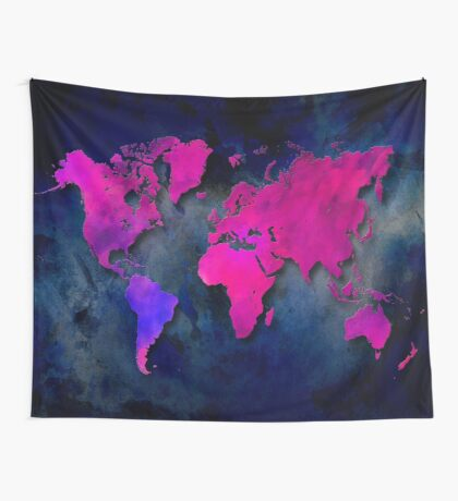 World map special 7 Wall Tapestry