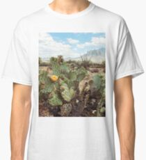 Superstitious Arizona Desert Mountain Cactus Bloom Classic T-Shirt