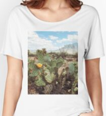 Superstitious Arizona Desert Mountain Cactus Bloom Women's Relaxed Fit T-Shirt