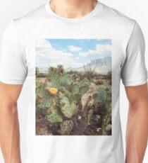 b21b7300675 Superstitious Arizona Desert Mountain Cactus Bloom Unisex T-Shirt