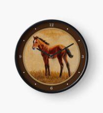 Nettes Bucht-Viertel-Pferdefohlen Uhr