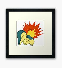 Cyndaquil - Second Gen Fire Starter Pokemon Framed Print