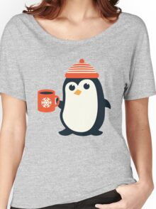 Penguin the Cute Penguin Winter Adorable Animal Women's Relaxed Fit T-Shirt
