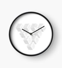 Triangle Made Of Cubes,Geometric and Abstract Clock
