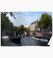 Amsterdam River Life Poster