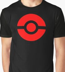 Pokeball Icon Red Graphic T-Shirt