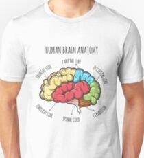 Human Brain Anatomy Sketch Unisex T-Shirt
