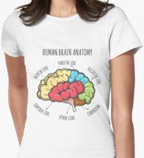 Camiseta entallada para mujer Bosquejo de la anatomía del cerebro humano