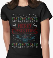 MERRY CHRISTMAS FROM THE UPSIDE DOWN! Women's Fitted T-Shirt