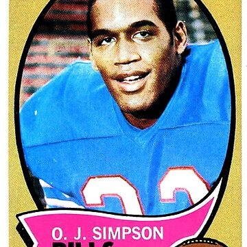 OJ Simpson Buffalo Bills Football Rookie Card de hackeycard