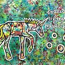 Expect to Find Miracles. Magical Watercolor Unicorn Illustration by mellierosetest