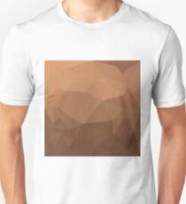 Burlywood Goldenrod Abstract Low Polygon Background Unisex T-Shirt