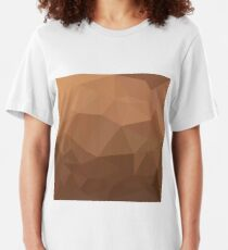 Burlywood Goldenrod Abstract Low Polygon Background Slim Fit T-Shirt