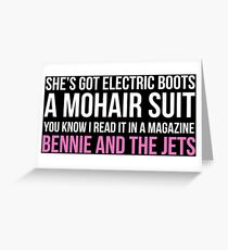 """Bennie and the Jets"" by Elton John (White) Greeting Card"