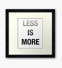 Less Is More, Mimimalist Desing Framed Print