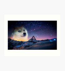 Doge sky Art Print