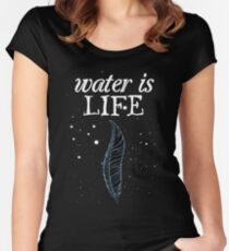 Standing Rock - Water Is Life Women's Fitted Scoop T-Shirt