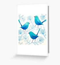 Bluebirds Greeting Card