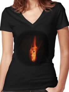 Firebolt Bottle Women's Fitted V-Neck T-Shirt