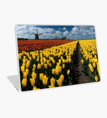 Out In the Tulip Fields Laptop Skin
