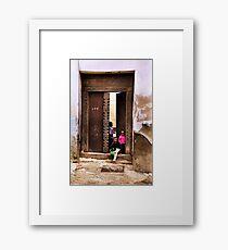 African Kids Zanzibar Framed Print