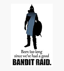 Skyrim Guard - Bandit Raid Photographic Print