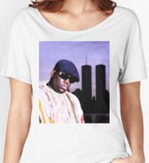 The Notorious BIG World Trade Center Biggie Smalls Twin Towers Women's Relaxed Fit T-Shirt