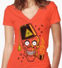 MR. BONES Women's Fitted V-Neck T-Shirt