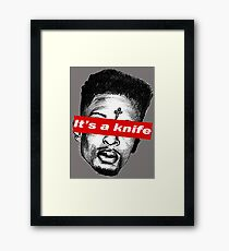 "21 Savage ""it's a knife"" Supreme Framed Print"